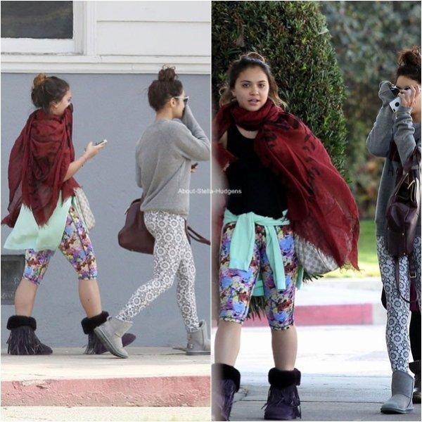 . Les soeurs Hudgens et Gina hier dans Los Angeles.