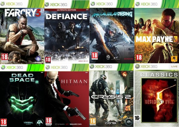 8 jeux que Je joue actuellement