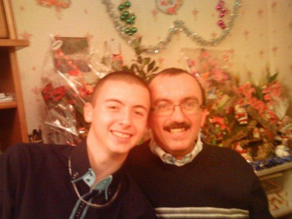 moi et mon papa d'amour xd