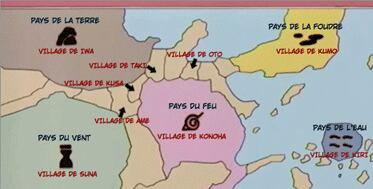 Les 5 Grands Pays Ninjas