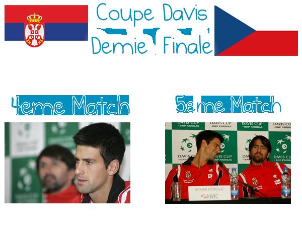 68. COUPE DAVIS - Demie Finale - 4ème & 5ème Match
