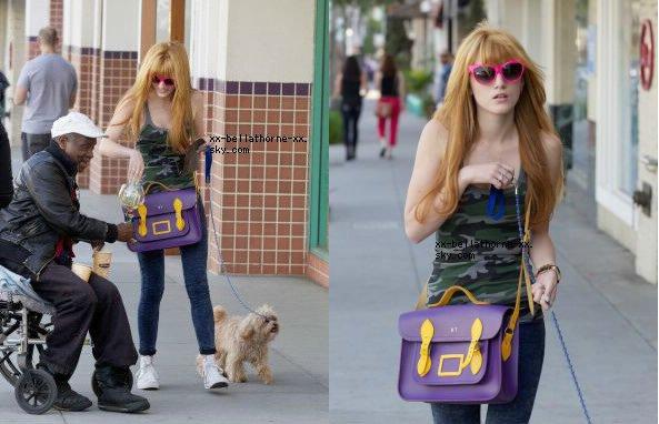 22/03/13. Bella déjeunant au Spago a Beverly Hills