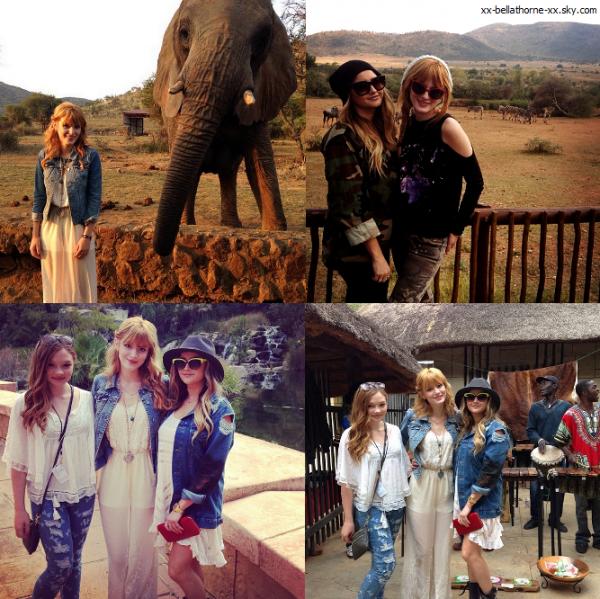 Bella, sa mère et le cast du film en safari le 18 mai 2013
