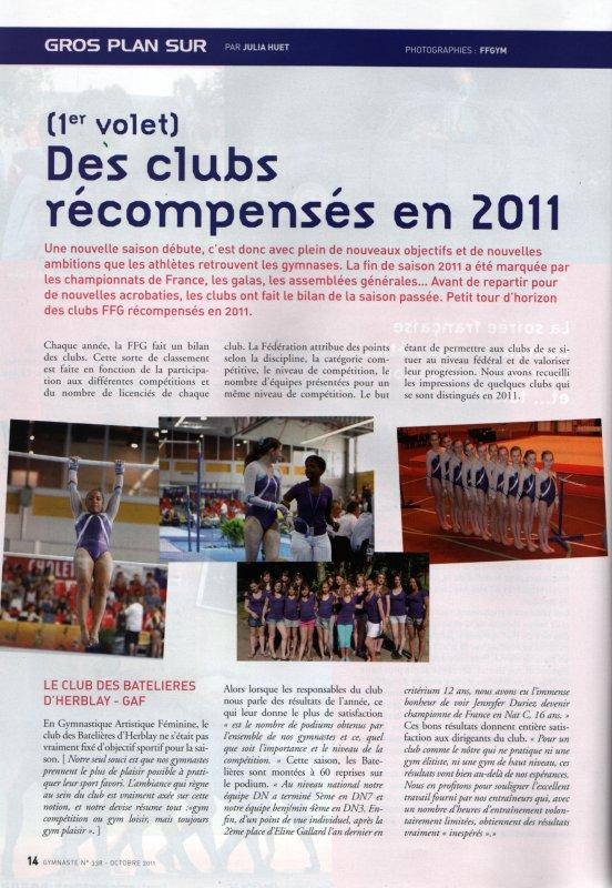 Gymnaste Magazine - Les Batelieres d'Herblay <3