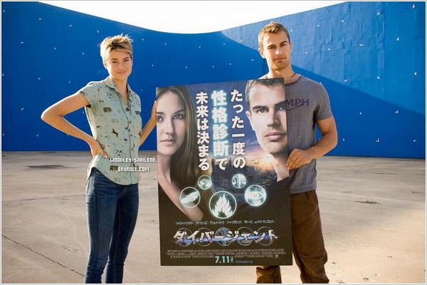 s Shailene et Theo James sur le set d'Insurgent : s