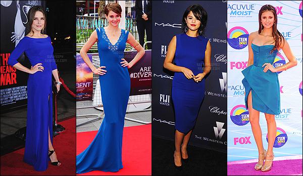 ♦ Parmi ces ravissantes célébrités, laquelle d'entre-elles porte le mieux la robe bleue ?     Ce sont de grandes habituées des événements mondains, elles sont toujours à la pointe de la mode mais qui de Nina Dobrev, Selena Gomez, Shailene Woodley ou Sophia Bush porte le mieux la longue robe bleue ? • • ______________________________________Donnez-nous votre avis !   Article en collab' avec Dobrev-Nina, SelenaGomez & BushSoph