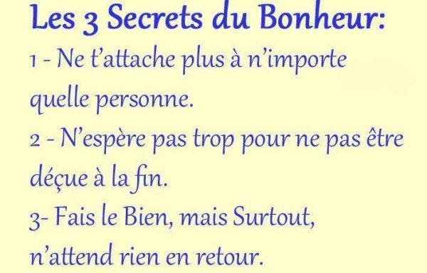 les 3 secrets