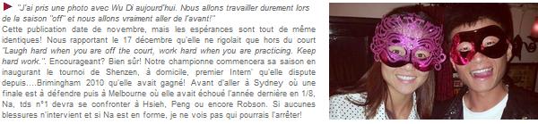 du 31/12/2012 au 05/01/2013