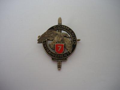 BREVET : Insigne commando n°7  CEC  Kehl (FFA) 110e RI