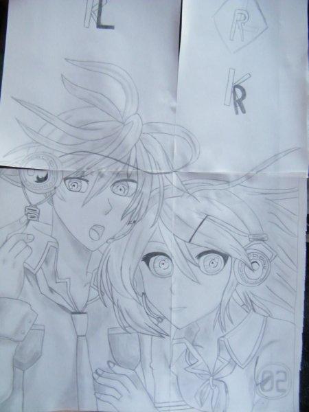 Dessin Rin et Len ! ^^