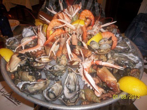 soirée plateau fruits mer trop bon ,