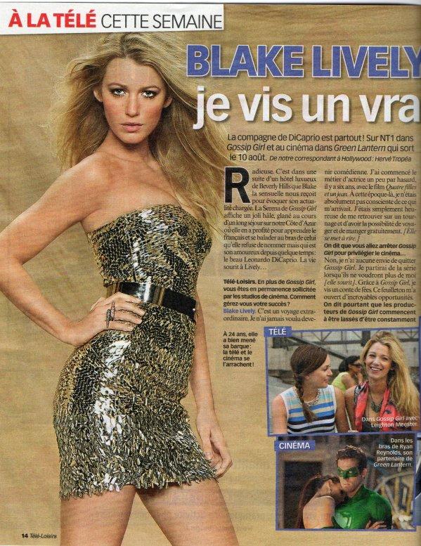 Blake Lively fait la Une de la presse française...