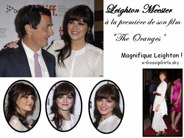 """Leighton Meester pour la première de """"The Oranges"""""""