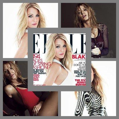 Blake Lively pour le magazine Elle (février 2012).