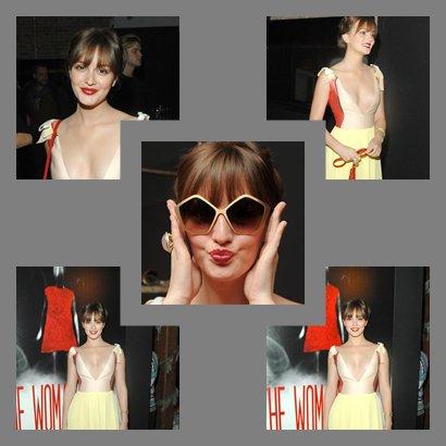 """Leighton à la projection privée du film """"The Woman Dress"""""""