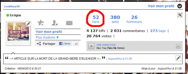 20 000 visites et 50 fans !!!!! :D