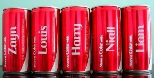 Les 1D et le Coca-Cola...