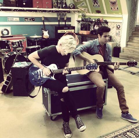 Ross on set :)