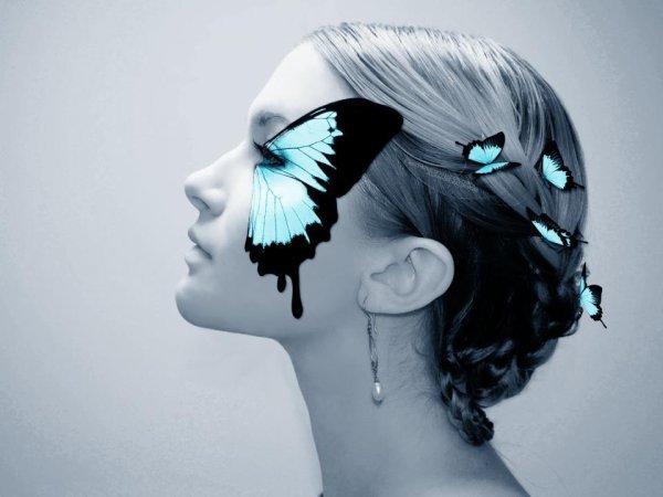 Visage papillon