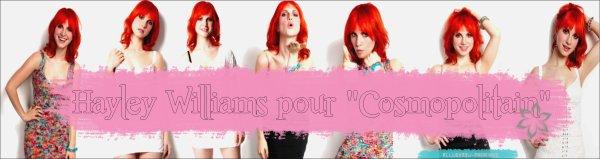 "Hayley Williams pour le ""Cosmopolitain"" de mai 2011"