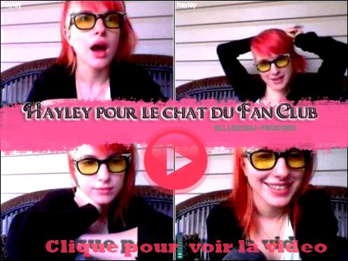 08/11/2011: Hayley sur le chat du Fan Club