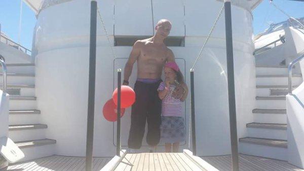 Ma fille et moi sur un yacht ♡♡♡