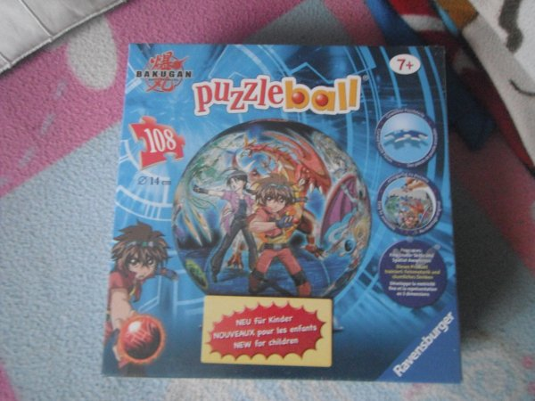PUZZLE BALL BAKUGAN  108 PIECES  NEUF