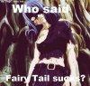 Who said Fairy Tail suck ?