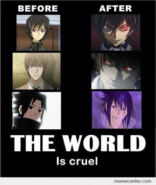 Le monde est cruel...