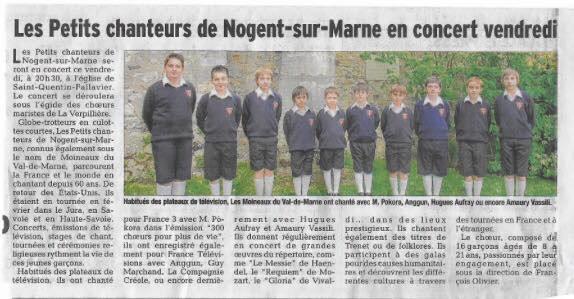 Les Moineaux du Val de Marne - Dernier concert de tournée