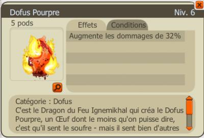 Darktik - Drope du deuxième Dofus - Pourpre