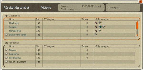 Screens de nos victoire dans la Bataille contre Immortalis-Bellator