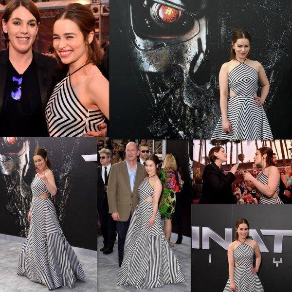 """Emilia Clarke arrive à la première de """"Terminator Genisys"""" de Paramount Pictures au Dolby Theatre"""
