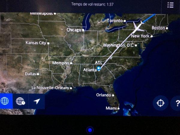 L'avion.... juste 16H de voyage en tout !