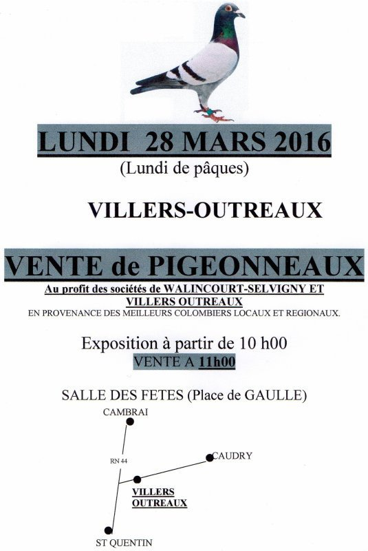 Lundi 28 Mars (Paques) Villers-Outreaux