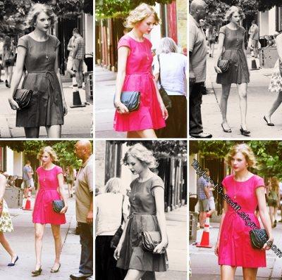 Le 20 juillet Taylor, accompagnée de son amie et choriste Caitlin, a été vue mangeant un morceau au Market table 54 à New York. Elle était adorable dans sa petite robe rose bonbon. Un break bien mérité avant ses deux derniers concerts dans la ville de Newark au New Jersey, elle prendra ensuite la direction du Michigan.