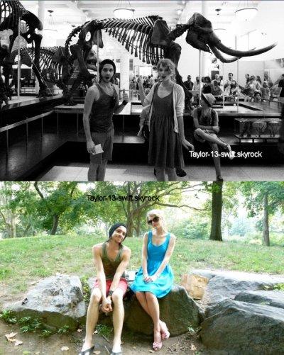 New York, afin d Taylor était de sortie avec  Grant,  d'abord au Musée d'Histoire Naturelle à'aller saluer quelques dinos. Puis, ils sont allés manger  Central park et ont pu faire ami/ami avec des écureuils. C'est une bonne chose de voir Taylor se reposer un peu car elle semblait vraiment fatiguée ses derniers jours.