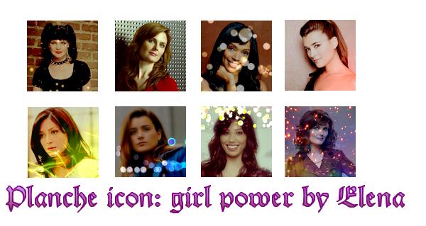 >>Service avatar/gif: pack girl power Bones & NCIS