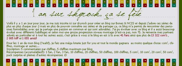 >> xoxo-my-series-xoxo, votre blog sur Bones & NCIS depuis 1 an