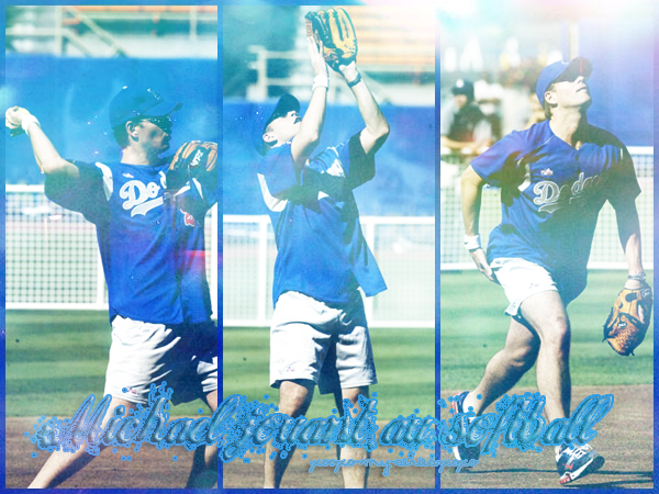 >> Just for you girls, Michael et le softball (il est fort le Michael, joli home run)