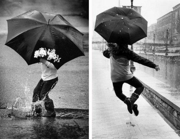Regarder comme la pluie peut nous rendre heureux!!