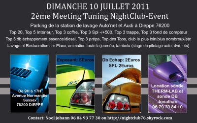 2eme MEETING TUNING NIGHTCLUB EVENEMENTIEL DIMANCHE 10 JUILLET 2011