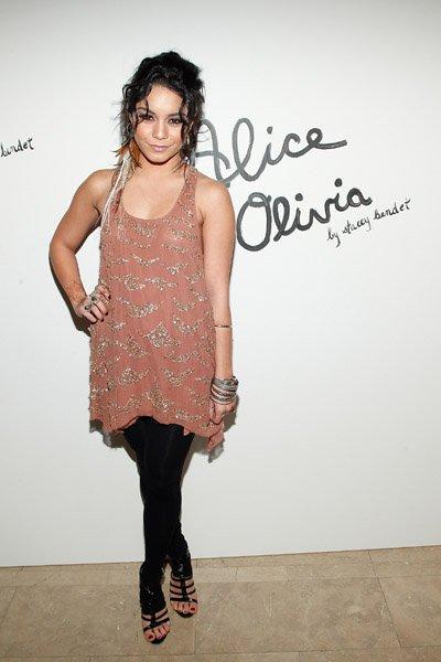Vanessa New York où elle s'est rendue à deux défilés de mode pour la Fashion Week Automne 2011
