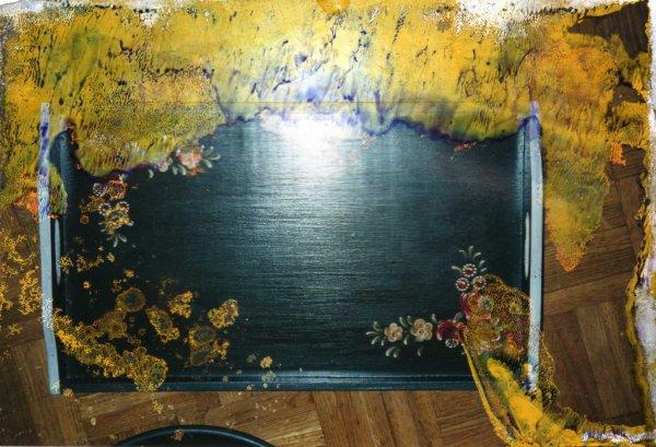 peinture sur bois tableau et plateau a s c a i n h o a. Black Bedroom Furniture Sets. Home Design Ideas