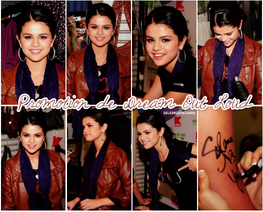 .  23 Septembre 2010 : Selena a assisté à la promotion de sa ligne de vêtement « Dream Out Loud ». .