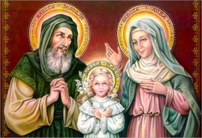 SAINT JOACHIM , SAINTE ANNE, Sainte Vierge Marie