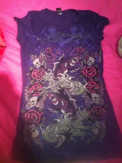 T shirt Ed hardy violet Taille M