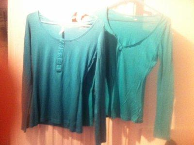 Lot de deux t shirt manches longues Turquoise Taille M SUD EXPRESS