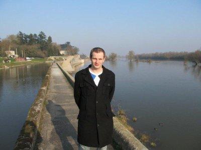Moi a bord de la Loire a coté de Orléans après passage en radio