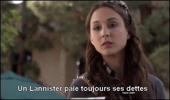 Article 4 → Spencer Hasting parle de Game Of Thrones